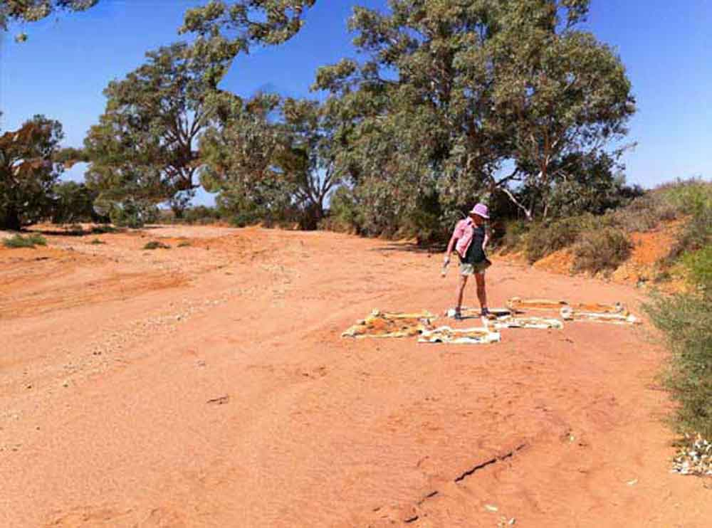 painting in creek bed outside Silverton NSW
