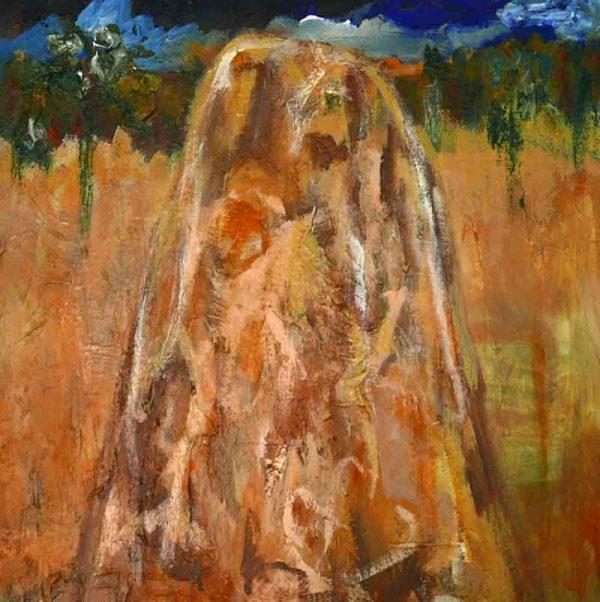 'Tallong Termites I' mixed media on canvas 42cm x 42cm