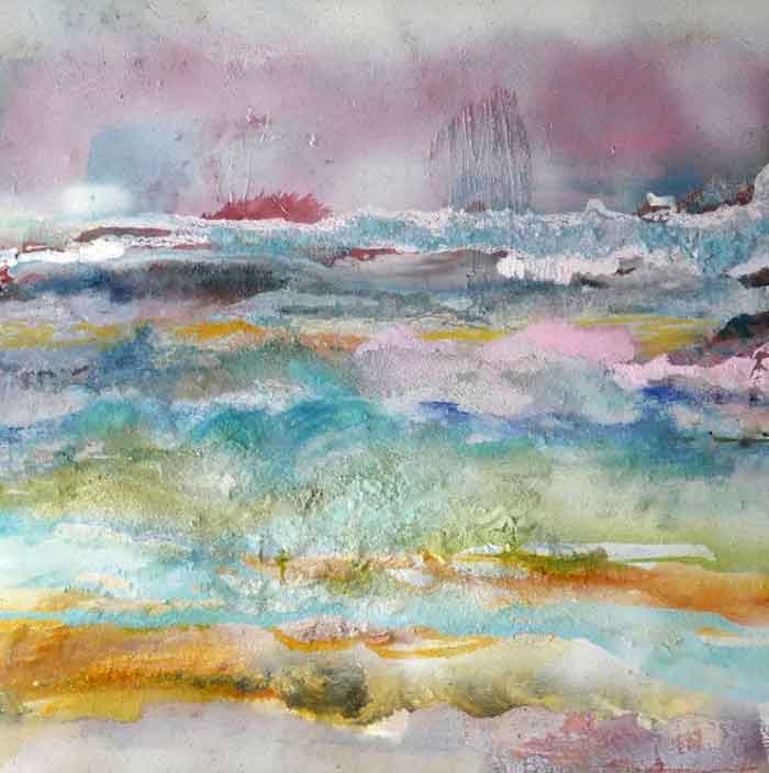 'The Warp and Weft of the Landscape' mixed media on canvas